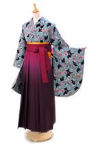 水色桜小紋G