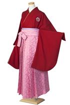 濃ピンク花紋