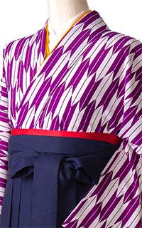 矢絣 紫・白